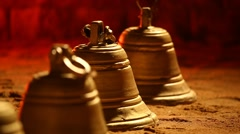 Temple Bells rack focus. Stock Footage