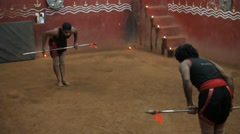 Ancient Martial Arts from Kerala 11 Stock Footage