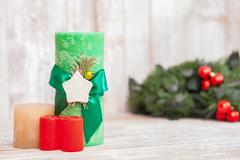 Holiday decoration for celebration of New Year Stock Photos