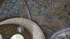 Golestan Palace building of Karim Khan of Zand walls Stock Footage