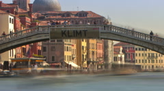 Panning time-lapse of the Scalzi bridge in Venice. Stock Footage