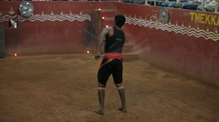 Ancient Martial Arts from Kerala 15 Stock Footage