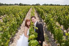Stock Photo of Newlywed couple