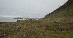 Arctic Scenic - Mountain And Bay - Dolly Left Stock Footage