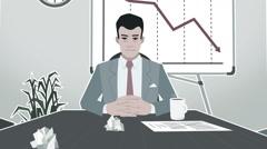 Cartoon Corporate / Failed Business Meeting Strock - stock footage