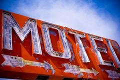 Old Vintage Motel Sign Stock Photos