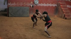 Ancient Martial Arts from Kerala 17 Stock Footage