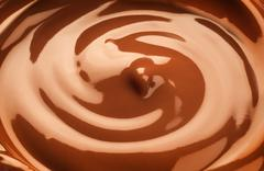 Chocolate swirl - stock photo