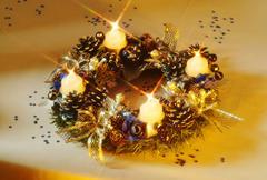 Advent wreath. Stock Photos