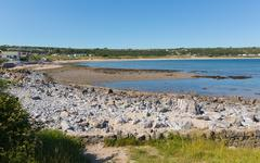 Stock Photo of West end of Port Eynon Bay beach The Gower Peninsula Wales uk