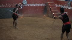 Ancient Martial Arts from Kerala 16 Stock Footage