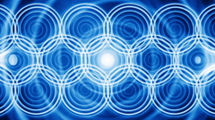 Radial circle light background blue LOOP Stock Footage