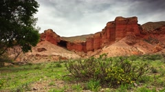4k Time lapse of the red canyon. - stock footage