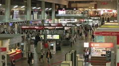 Passengers waiting on and Kursky railroad station in Moscow - stock footage