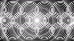 Radial circle light background colorlessLOOP Stock Footage
