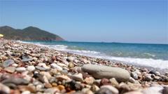 Cirali pebble Beach. Mediterranean Sea. Kemer. Antalya. Turkey. - stock footage