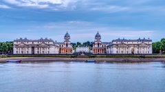 Timelapse of the Royal naval college in Greenwich Stock Footage