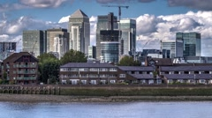 Timelapse view of the Docklands in London - stock footage