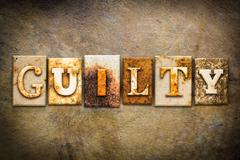 Guilty Concept Letterpress Leather Theme - stock photo