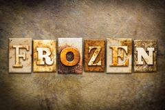 Frozen Concept Letterpress Leather Theme Stock Photos