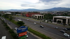 Busy street in the City Center of San Jose on August 19, 2015 in Costa Rica. Stock Footage