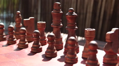 Chess Pieces Setup Stock Footage