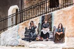 ORGOSOLO, ITALY - JUNE 26, 2015 - typical wall paintings on the streets of Or - stock photo