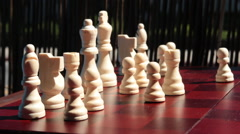 Moving Bishop Chess Piece - stock footage