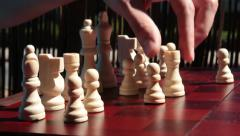 Moving Bishop Chess Piece Stock Footage