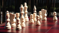 Moving Knight Chess Piece Stock Footage
