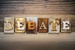 Stock Photo of Debate Concept Letterpress Theme