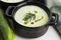 Stock Photo of Tarator, bulgarian sour milk soup