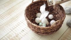 A Basket Full of Silver Balls Stock Footage