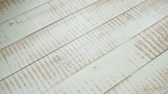 Old Wooden Floor with a Place Under an Inscription Stock Footage