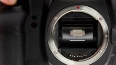 Slow Motion Photo Camera Mirror, Sensor and Shutter Mechanism - stock footage