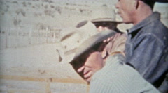 1953: Sheep ranchers American western cowboys dry climate. - stock footage