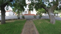 Mission Santa Ysabel Front View - stock footage