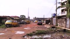 Wide street scene of Lagos. Stock Footage