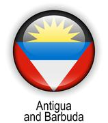 antigua and barbuda state flag - stock illustration