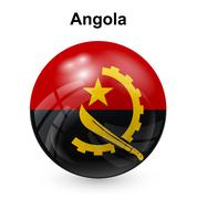Angola flag Stock Illustration