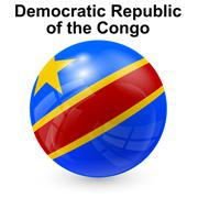 Democratic Republic of the Congo flag Stock Illustration