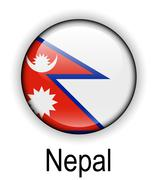 nepal official state flag - stock illustration