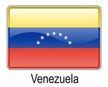Venezuela official state flag Stock Illustration
