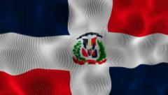 Waving Flag Dominican Stock Footage