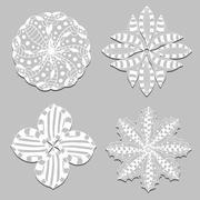 Rosette ornament. - stock illustration
