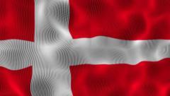 Waving Flag Denmark Stock Footage