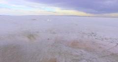 Summer evening at Bonneville Salt Flats, Utah. Stock Footage