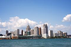 Skyline of Detroit from Windsor, Ontario Kuvituskuvat
