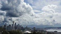 Seattle Clouds Time Lapse Stock Footage