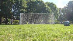 Perfect Shot on Soccer Net Stock Footage